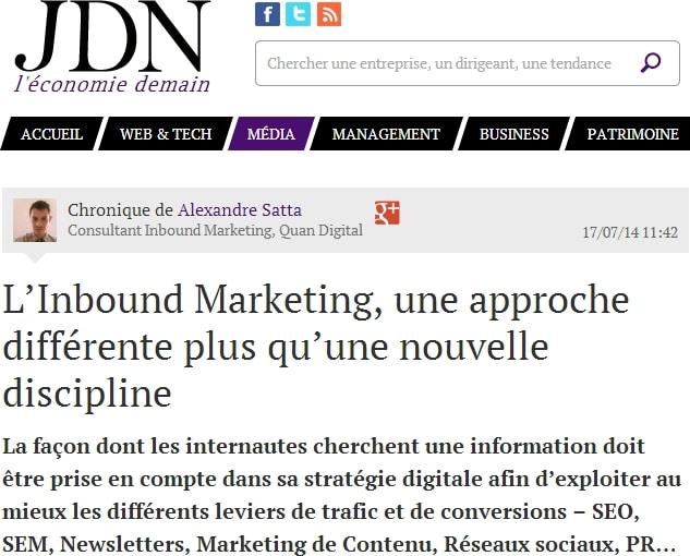 Alexandre Satta et l'Inbound marketing et le marketing de contenu. Il faut de bons copywriters