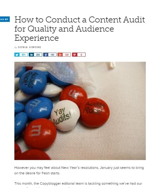 copyblogger : faire un audit de site