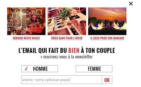 L'accroche de la newsletter de Gustave et Rosalie