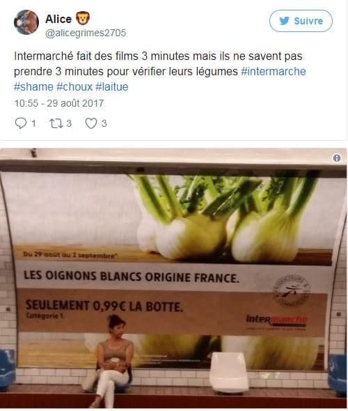 """Idée de contenu Intermarché """"trouvez l'erreur"""" réactions"""