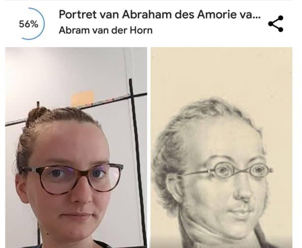 Google art selfie avec lunettes, cela change tout si vous êtes opticien