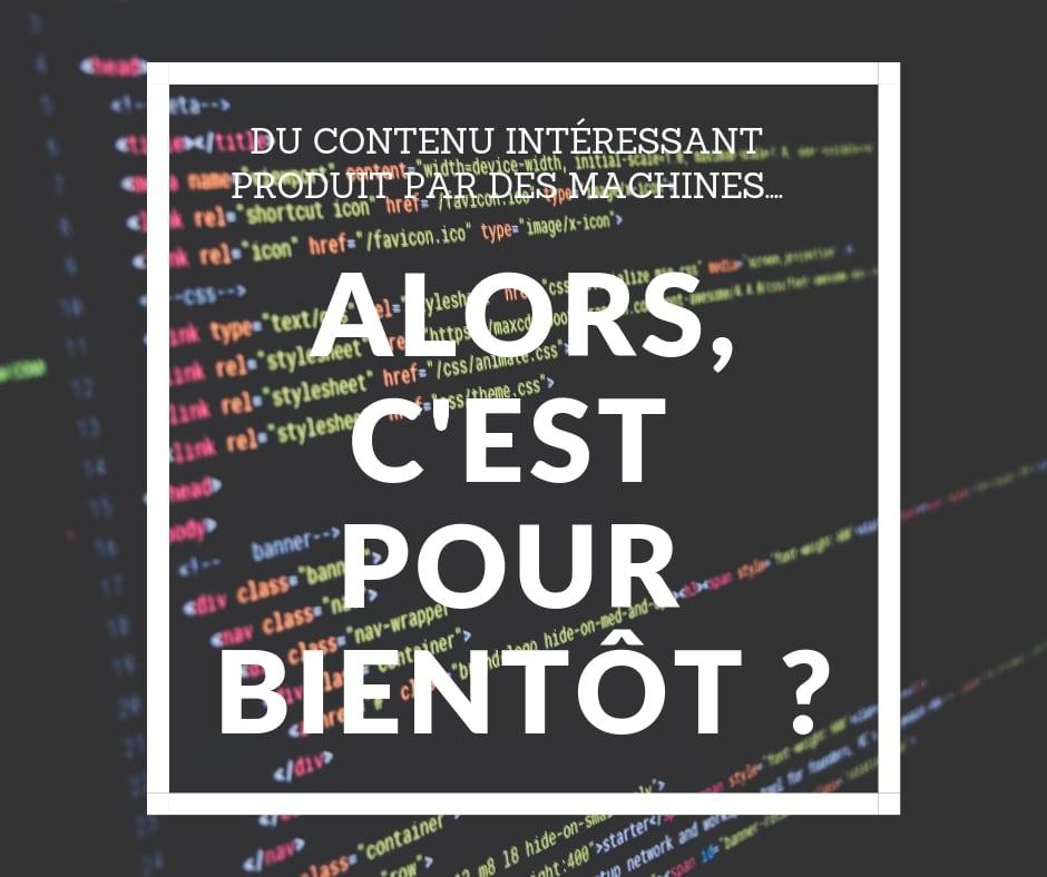 LE CONTENU PRODUIT PAR DES MACHINES- INSTITUT DU CONTENU
