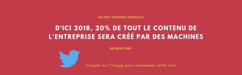 Information à retweeter : en 2018 20% du contenu